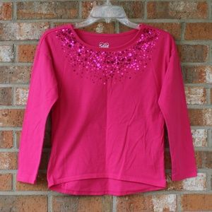Justice Pink Sparkle Girl's Size 12 Tshirt